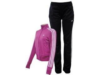 Abrigo Feminino Adidas V35426 Violeta/preto - Tamanho Médio