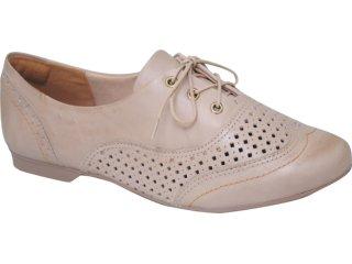 Sapato Feminino Dakota Oxford 3003 Bege - Tamanho Médio