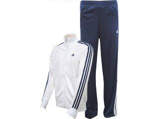 Abrigo Masculino Adidas V38638 Branco/marinho - Tamanho Médio