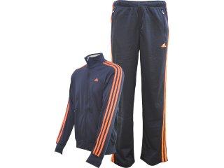 Abrigo Masculino Adidas V38637 Marinho/laranja - Tamanho Médio