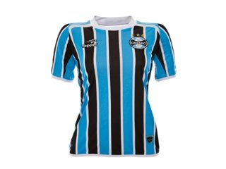 T-shirt Feminino Grêmio C7000f 2011  Tricolor - Tamanho Médio