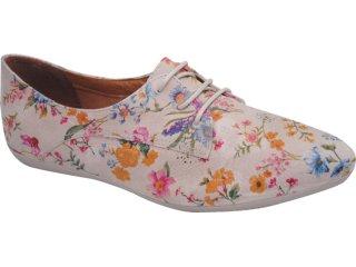 Sapato Feminino Bottero 140901 Floral Nude - Tamanho Médio