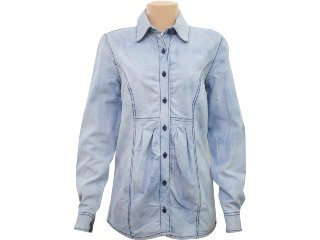 Camisa Feminina Hering H7fr Qvj23 Jeans Claro - Tamanho Médio