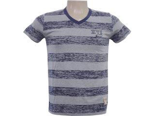 Camiseta Masculina Hering 4c3c 1c10s Listrado Marinho - Tamanho Médio