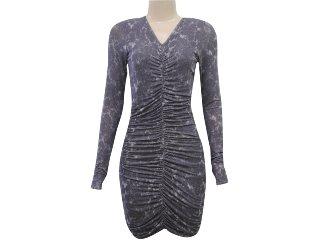 Vestido Feminino Index 13.02.0741 Chumbo - Tamanho Médio
