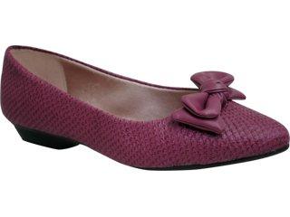 Sapato Feminino Moleca 5118200 Vinho - Tamanho Médio