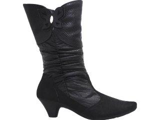 Bota Feminina Comfortflex 1199105 Preto - Tamanho Médio