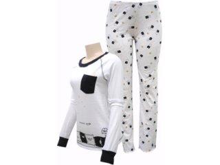 Pijama ml Feminino Hering 76zf Noa10s Branco - Tamanho Médio