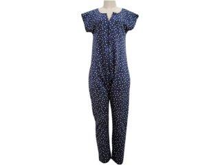 Pijama ml Feminino Hering 7650 1a00s Color - Tamanho Médio