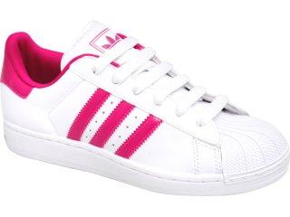 Tênis Feminino Adidas Star G43756 Branco/pink - Tamanho Médio