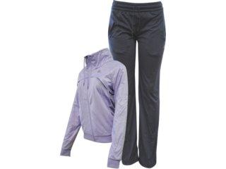 Abrigo Feminino Adidas V35512 Chumbo/lilas - Tamanho Médio
