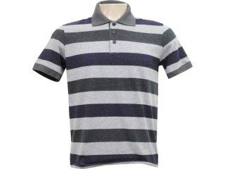 Camiseta Masculina Hering 03gr 2r00s Listrado Preto Cinza - Tamanho Médio