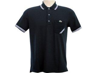 Camiseta Masculina Lacoste ph 292621 Preto - Tamanho Médio