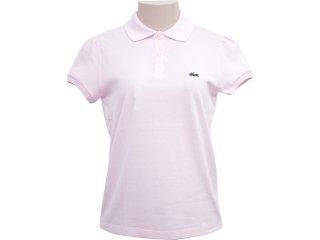 T-shirt Feminino Lacoste pj 293421 Rosa - Tamanho Médio