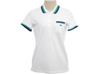 T-shirt Feminino Lacoste pf 291621 Branco - Tamanho Médio