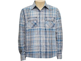 Camisa Masculina dj 01011125 Azul - Tamanho Médio