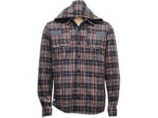 Camisa Masculina dj 01011097 Preto/vermelho - Tamanho Médio