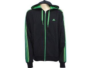 Jaqueta Masculina Adidas V35901 Preto/verde - Tamanho Médio
