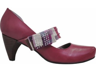 Sapato Feminino Cravo e Canela 61213/3246 Rouge - Tamanho Médio