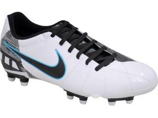 Chuteira Masculina Nike 387169-102 Exacto ii Branco/preto - Tamanho Médio
