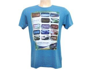 Camiseta Masculina Coca-cola Clothing 353202409 Azul - Tamanho Médio