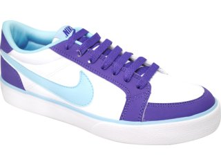 Tênis Feminino Nike 431910-101 Mrtyr Bco/roxo/celeste - Tamanho Médio