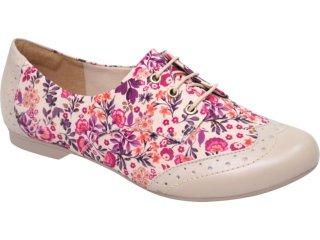 Sapato Feminino Dakota Oxford 3002 Floral - Tamanho Médio