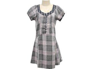 Vestido Feminino Hering Kk63 1asi Xadrez Roxo - Tamanho Médio