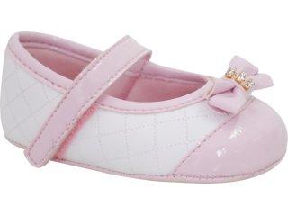 Sapato Unisex Pampili 379.331.027 Branco/rosa - Tamanho Médio