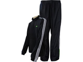 Abrigo Masculino Adidas V38601 Pto/bco/verde - Tamanho Médio