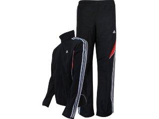 Abrigo Masculino Adidas V38629 Preto/vermelho - Tamanho Médio