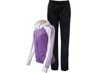 Abrigo Feminino Adidas V35505 Roxo/preto - Tamanho Médio