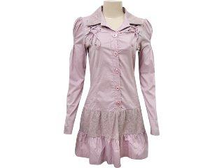 Vestido Feminino Enfase 11135 Rosa - Tamanho Médio