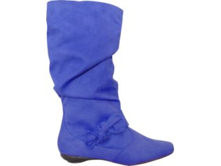 Bota Feminina Moleca 5009310 Azul - Tamanho Médio