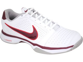 Tênis Masculino Nike 431842-101 Zoom Vapor Branco/vermelho - Tamanho Médio