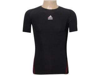 Camiseta Masculina Adidas P00512 Preto - Tamanho Médio