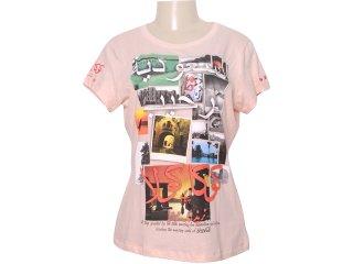 Camiseta Feminina Coca-cola Shoes 343200354 Rosa - Tamanho Médio