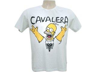 Camiseta Masculina Cavalera Clothing 01.01.5853 Off White - Tamanho Médio