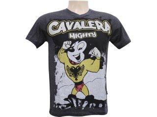 Camiseta Masculina Cavalera Clothing 01.01.5859 Preto - Tamanho Médio