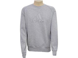 Blusão Masculino Adidas E15121 Cinza - Tamanho Médio
