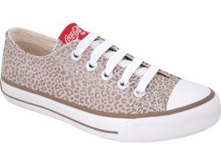 Tênis Feminino Coca-cola Shoes C0040001 Caqui - Tamanho Médio