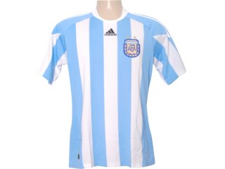 Camiseta Masculina Adidas P47066 Argentina Branco/azul - Tamanho Médio