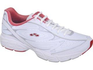 Tênis Feminino Olympikus Beta 639 Branco/vermelho - Tamanho Médio