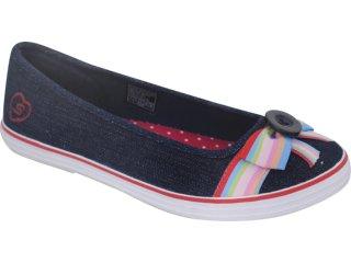 Sapatilha Feminina Skechers 36939 Jeans - Tamanho Médio