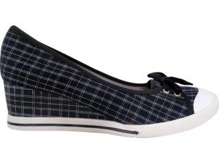 Sapato Feminino Dijean 602 Listrado Preto - Tamanho Médio