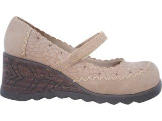 Sapato Feminino Tanara 6122 Areia - Tamanho Médio