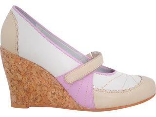 Sapato Feminino Tanara 3283 Fibra/rosa - Tamanho Médio