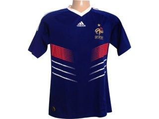 Camisa Masculina Adidas P41040 Franca Azul/branco - Tamanho Médio