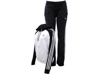 Abrigo Feminino Adidas V35509 Branco/preto - Tamanho Médio
