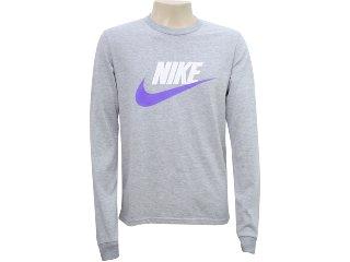 Camiseta Masculina Nike 336241-050 Cinza - Tamanho Médio